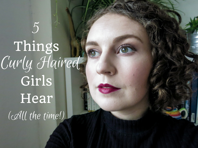 Curly Haired Girl and title: 5 Things Curly Haired Girls Hear All the Time
