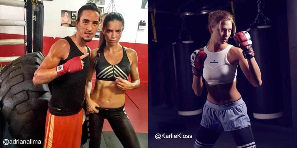Resultado de imaxes para top models boxing adriana lima