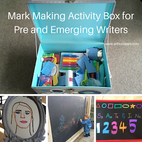 Mark making activity box for emerging writers