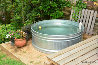 Let S Add Sprinkles Exciting News About Our Stock Tank Pool