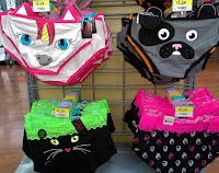 furry blue eye unicorn black cat puppy pink black white skull hipster brief panties Walmart womens