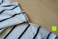 innen: Yidarton Damen Crew Neck Base Gestreiftes Kurz Spaltung Casual T-Shirt Top Bluse
