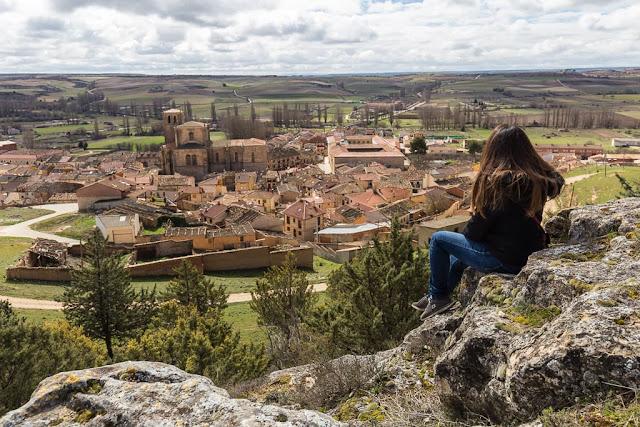 Vistas desde el castillo de Peñaranda de Duero, Ribera del Duero burgalesa