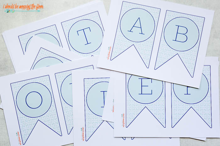 Letters to Print for A-Z Banner