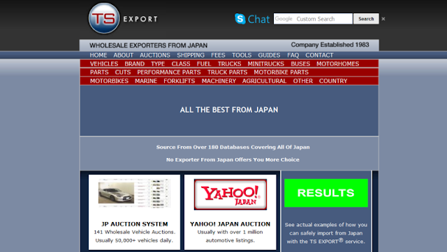 Leading automotive import and export company in Japan