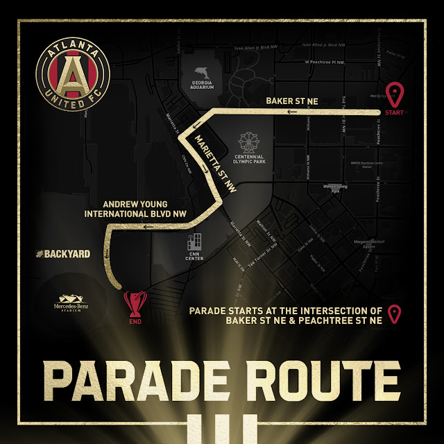 ATL United MLS CUP Victory Parade & Celebration - Parade Route