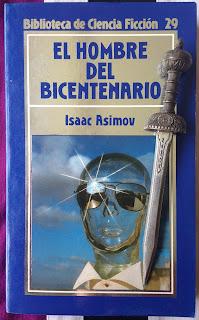 Portada del libro El hombre del bicentenario, de Isaac Asimov