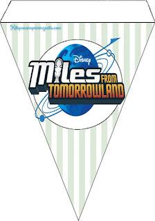 Banderines para Imprimir Gratis de Miles del Mañana.