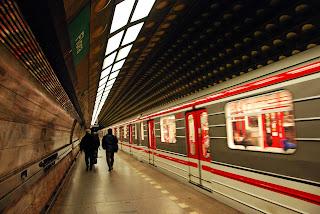 Prague underground transport