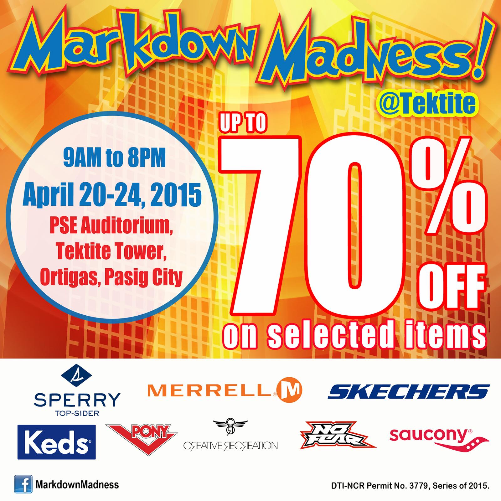 Enjoy up to 70% Discount at Markdown Madness at Tektite