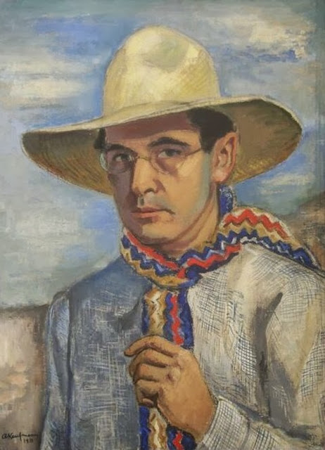 Arthur Kaufmann, Self Portrait, Portraits of Painters, Fine arts, Portraits of painters blog, Paintings of Arthur Kaufmann, Painter Arthur Kaufmann