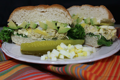 Chicken, Egg Salad, Sandwich