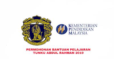 Permohonan Bantuan Pelajaran Tunku Abdul Rahman (BPTAR) 2019 Online