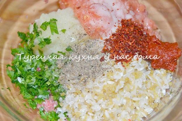 менгольд начиненный фаршем и рисом