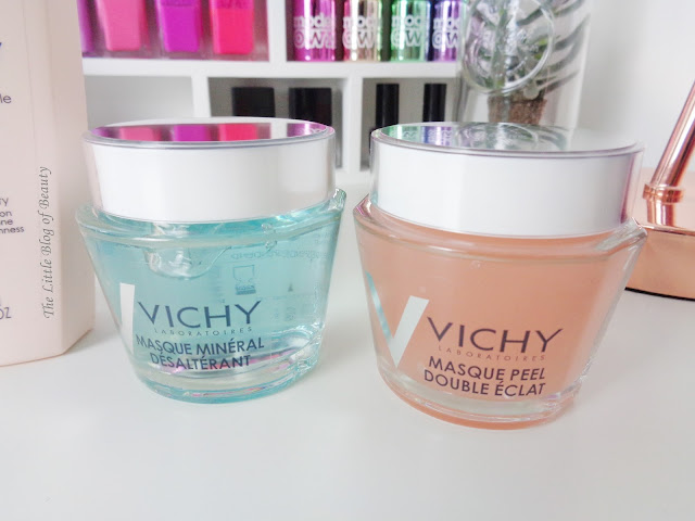 Vichy Quenching mineral & Double Glow Peel masks