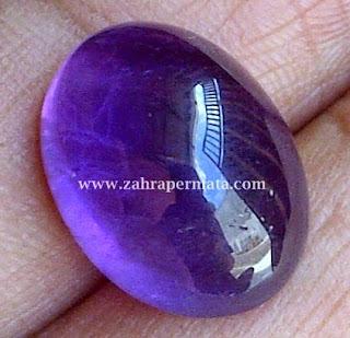 Batu Permata Kecubung Ungu Borneo - ZP 350