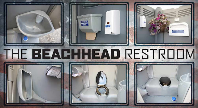 Portable Toilets with Sinks and Separate Urinals