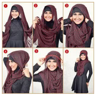 Tutorial Hijab Modern Kerudung Segi Empat Terbaru