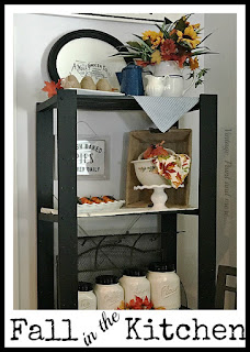 Vintage, Paint and more... Simple fall decor in the kitchen