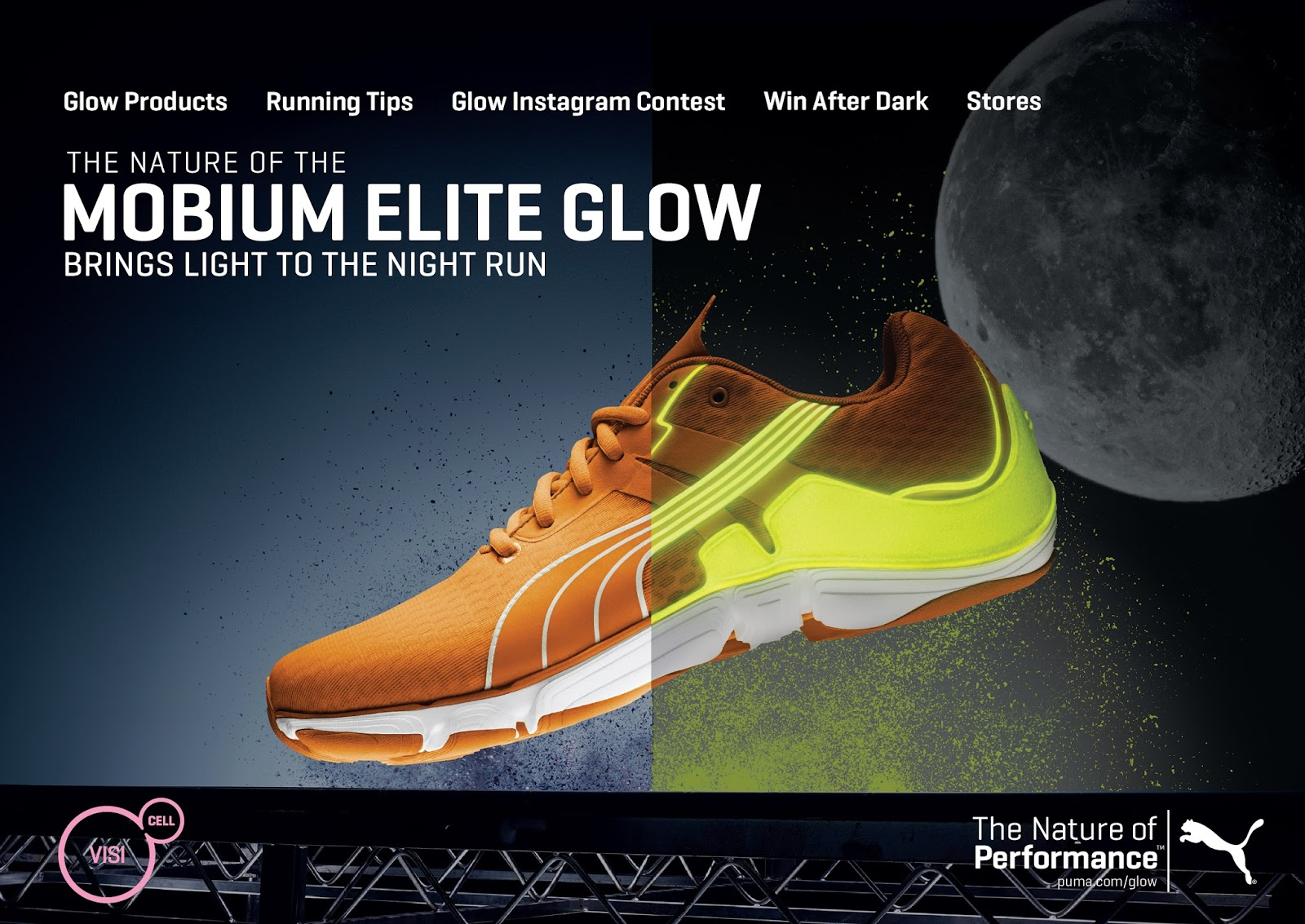 6a449ce1870 Make a mark as you pace through the town with PUMA s latest Glow edition to  their family of running shoes. Take part in our running revolution and show  us ...