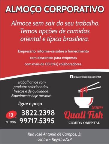 Quali Fish Comida Oriental em Registro-SP