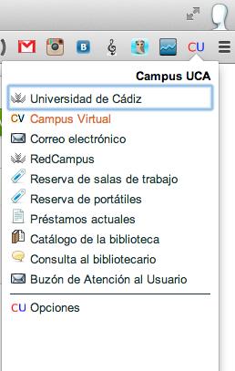 Campus UCA de la forma más simple en Chrome  ~ pizarrAPPS
