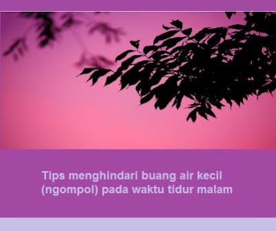 Tips menghindari buang air kecil (ngompol) pada waktu tidur malam