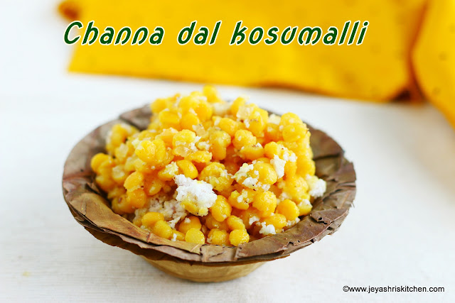 Channa dal kosumalli
