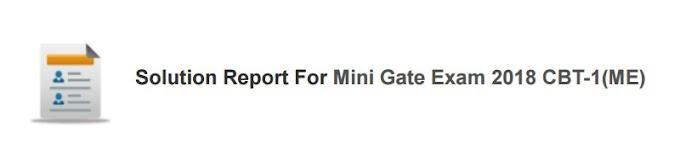 MINI GATE EXAM 2018 CBT-1 MECHANICAL ENGINEERING