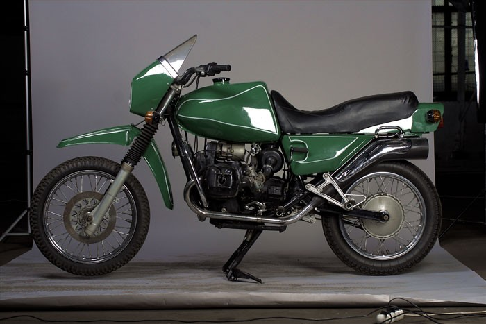 an extremely rear Dnepr Enduro Dynamite model