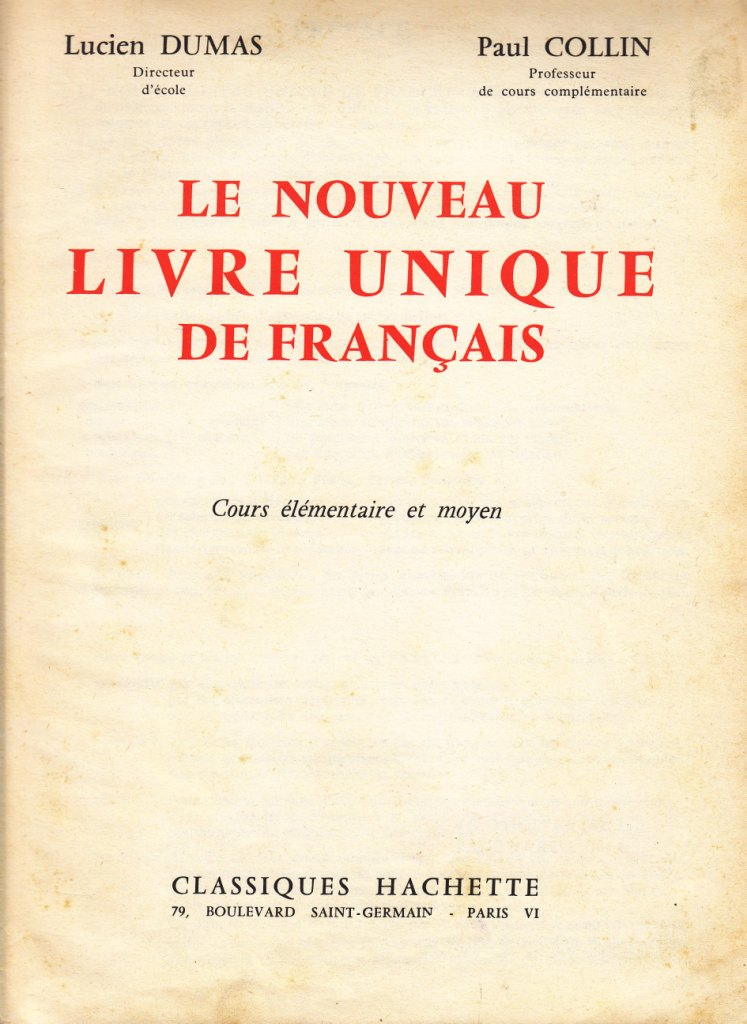 Gut gemocht Manuels anciens: Dumas, Collin, Le nouveau livre unique de  FA75