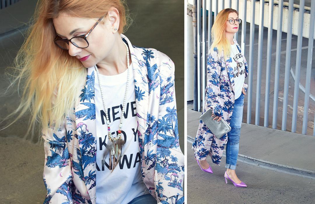Kimono Outfit, Look mit Kimono, Streetstyle