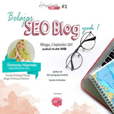 Ngopi Cantik Bareng Beautiesquad - SEO untuk Blog