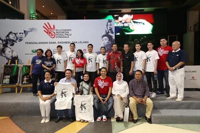 Atlet Bulu Tangkis Indonesia Menggelar Gerakan Sosial Peduli Palu dan Donggala