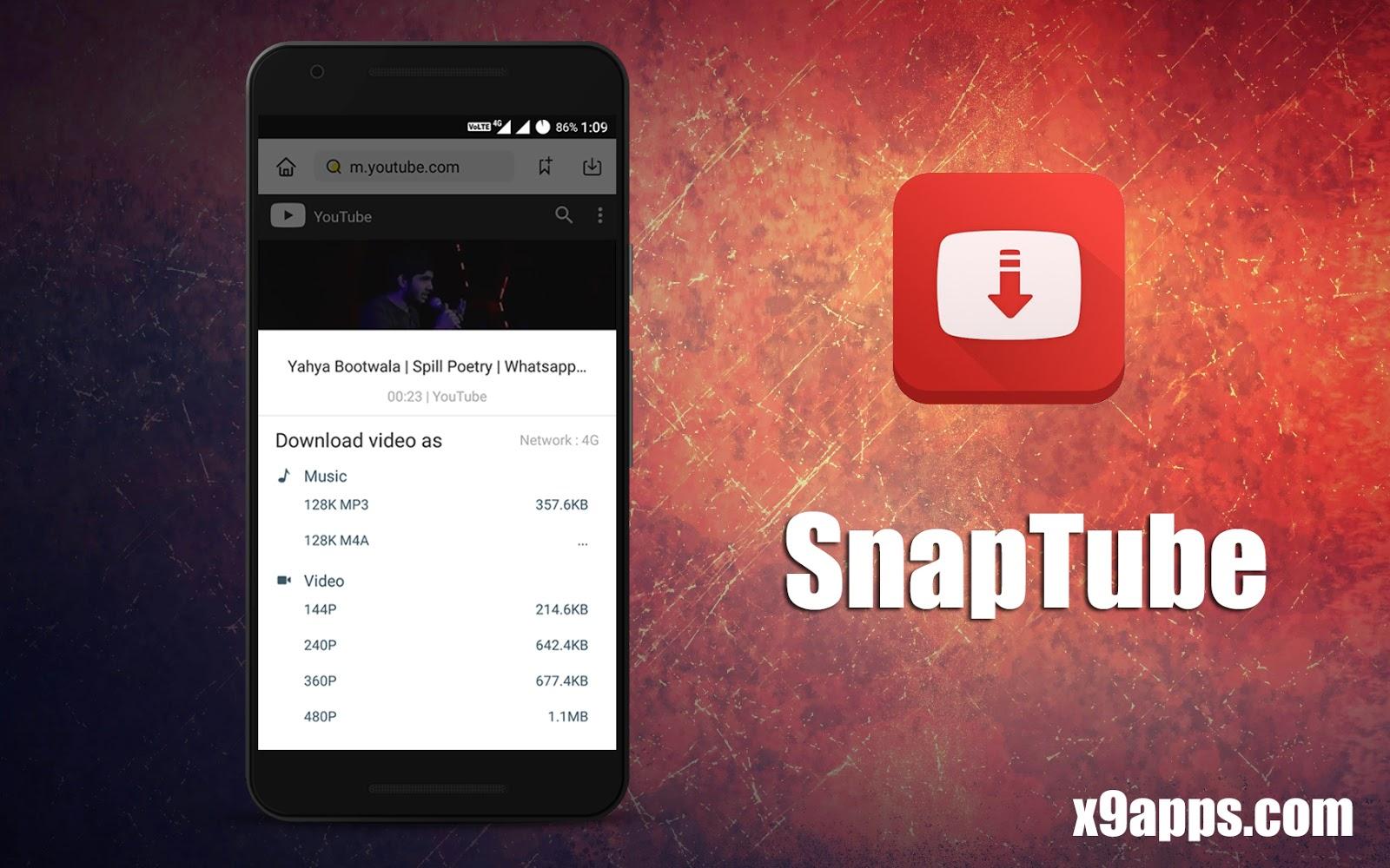 Download Snaptube - Youtube HD Video Downloader Cracked Apk
