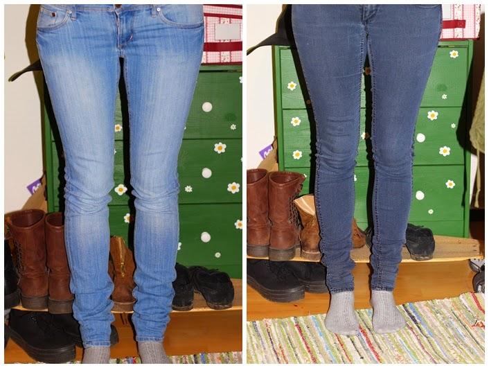 Blaue jeans hose schwarz farben