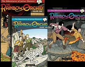 The Rainbow Orchid Volume 1, 2, 3 and The Complete - Julius Chancer Adventure - by Garen Ewing