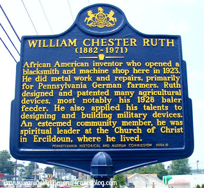 William Chester Ruth Historical Marker in Gap Pennsylvania