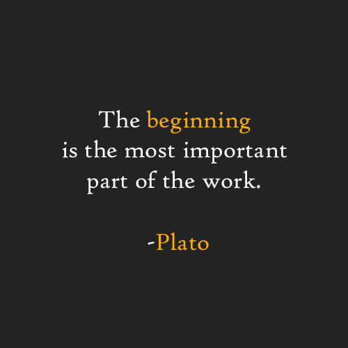 Plato the beginning is the most important