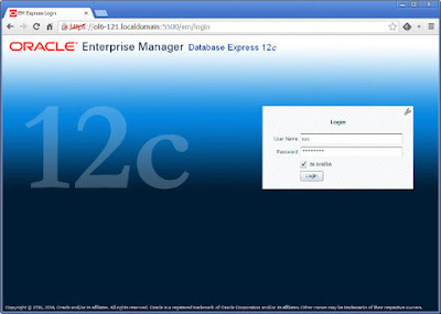 Enterprise Manager Database Express in Database 12c