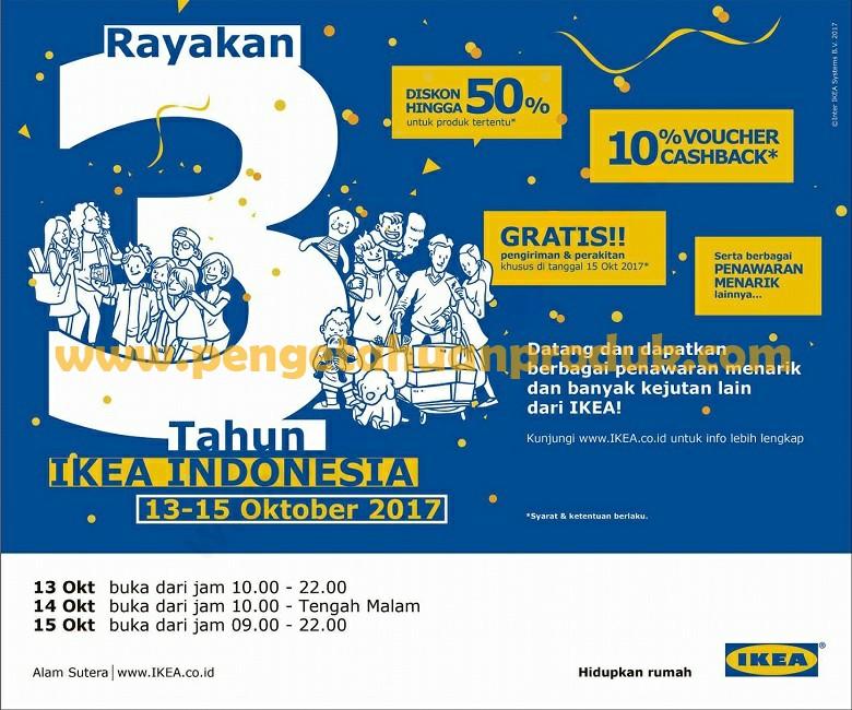 Promo IKEA Terbaru Edisi Spesial Ulang Tahun Ke Tiga 13 15 Oktober 2017