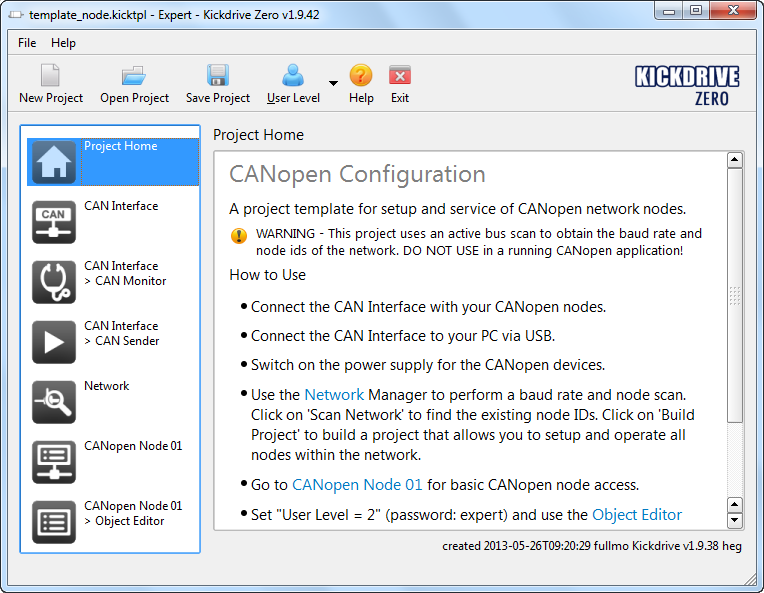 A free CANopen tool for Windows - Kickdrive Zero