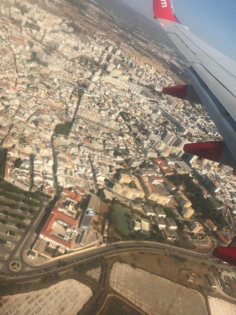 view of Faro from a Jet2 Plan window