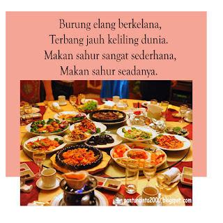 Makan di waktu sahur merupakan salah satu sunnah Nabi 20 Pantun Sahur Bulan Puasa Bergambar 2019