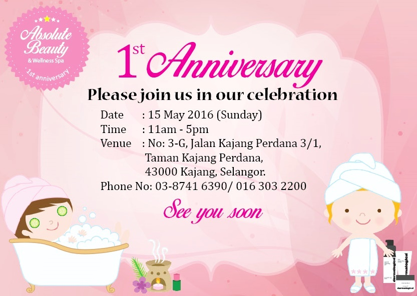 Party hat absolute beauty wellness spa 1st anniversary for Absolute beauty salon