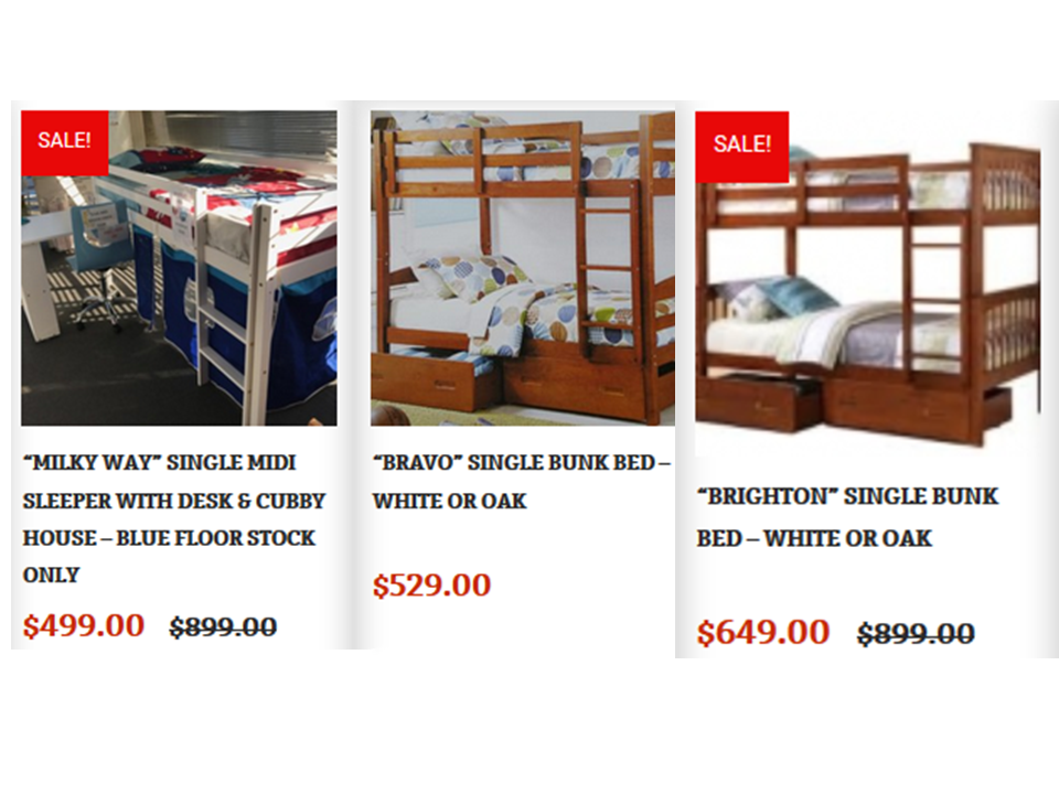 Pretty Eco Friendly Along With Being Kids Friendly, Bunk Beds For Sale  Cheap In Australia Are Available In Different Shapes, Colors, And Sizes  With Multiple ...