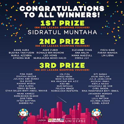 Menang Hadiah Online Revolution Blogger Contest Oleh Lazada