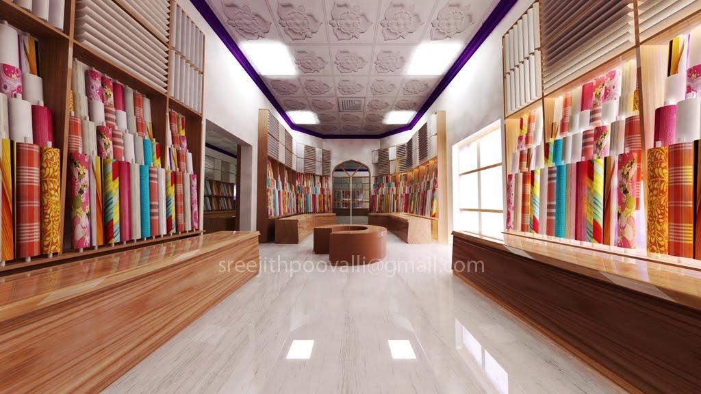 Textile showroom interior design ideas for Showroom interior design ideas