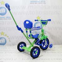 green tongkat sandaran bmx sepeda roda tiga