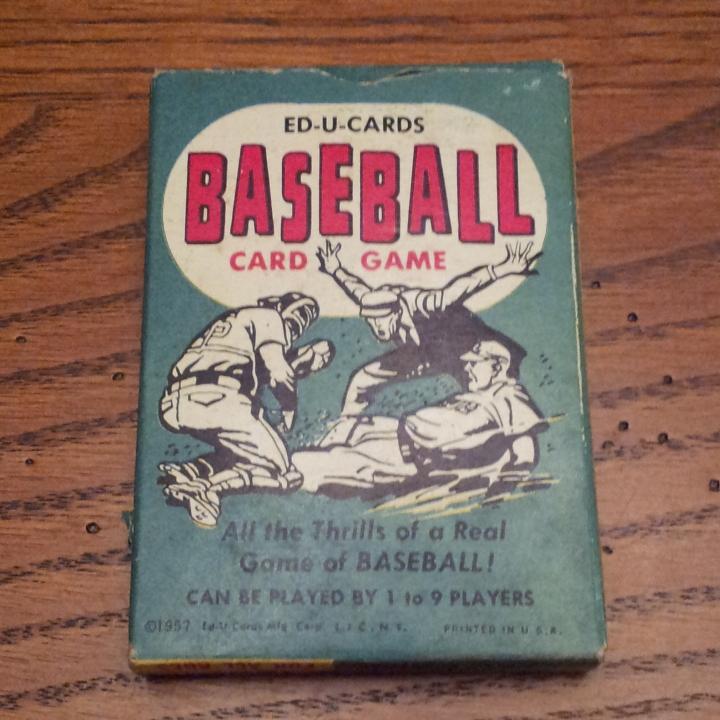 Marks Ephemera Ed U Cards Baseball Card Game
